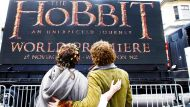 281112 News. Photo: Kent Blechynden/Fairfax NZ. Fans wait for the stars to arrive at the premiere of The Hobbit in ...