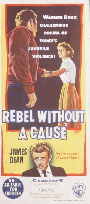 Poster from <i>Rebel Without A Cause</i>.
