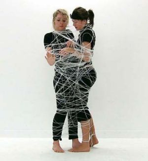 Breakthrough … artistic duo Nicole Beaumont and Sarah Clark.