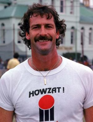 Dennis Lillee ... is advising the Australian pacemen on bowling in Perth.
