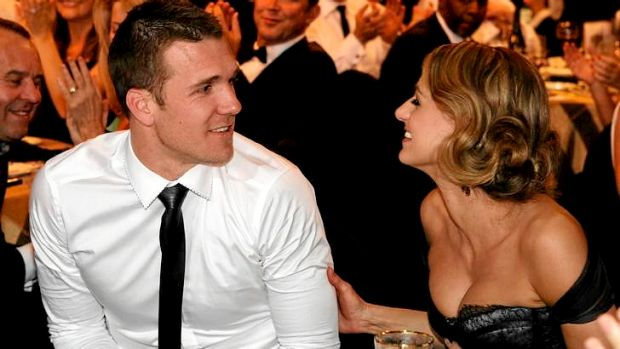 Dane Swan and Taylor Wilson at the 2011 Brownlow Medal count.