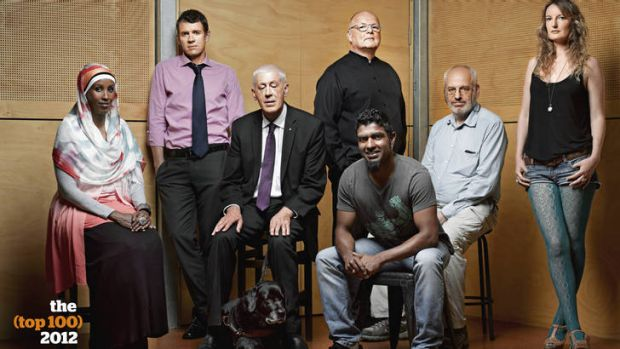From left: Deeqo Omar, Mike Baird, Graeme Innes and dog Arrow, Tone Wheeler, Jon Owen, Alex Wodak, Avis Mulhall. ...