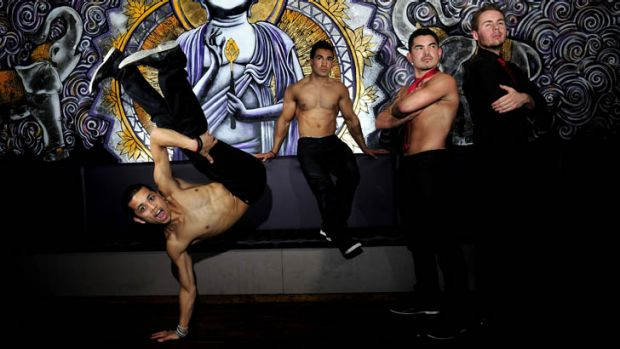 B-Boys, Pauli Meath, 21 of Harrison, Billie Paea,31 of Macquarie, Felipe Valenzuela, 27 of Higgins and Adam Gill,25 of ...