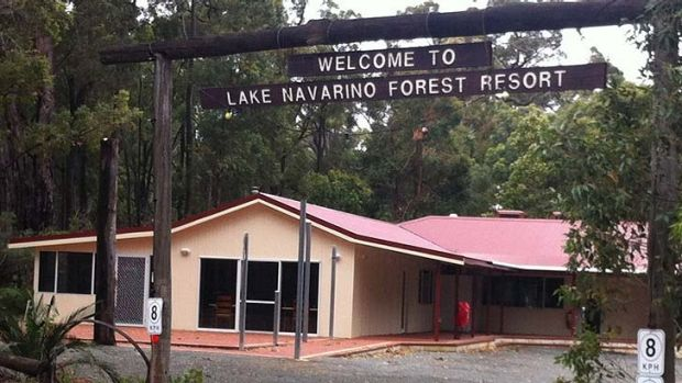 Lake Navarino Forest Resort - where a man died this morning after a tree fell on a caravan. <b>Photo:</b> Mandurah Mail