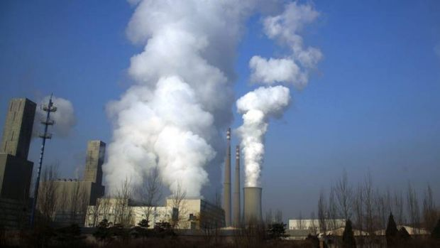 A coal-burning power station in central Beijing.