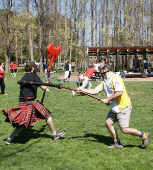 Who doesn't love a good old-fashioned game of jugger?