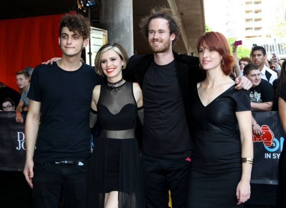 The Jezebels on the red carpet of the 2012 Aria awards.