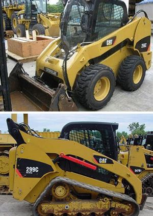 A pair of excavators that were stolen in Rockhampton.