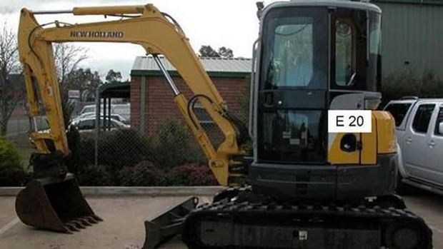 Earth-moving machinery stolen near Sarina this month.