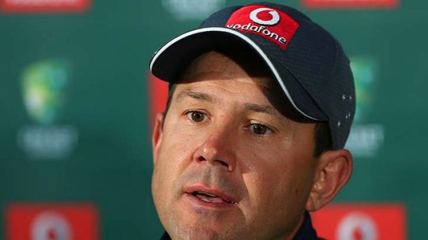 Ricky Ponting tells the media of his decision to retire after the Perth Test.