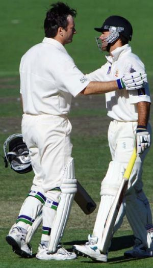 """I liked batting with him, I consider him one of the best teammates I've ever played alongside"" ... Steve Waugh, left, ..."