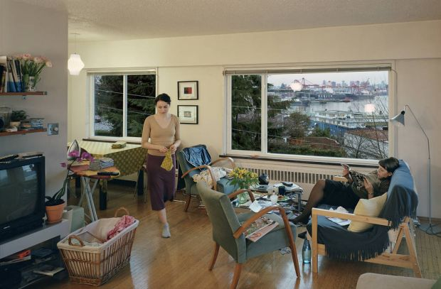Jeff Wall's A View From an Apartment, 2004.