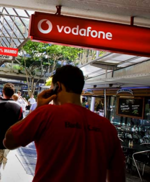 Down for the count ... Vodafone.