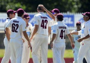Queensland took four late NSW wickets to give itself an outside chance of victory.