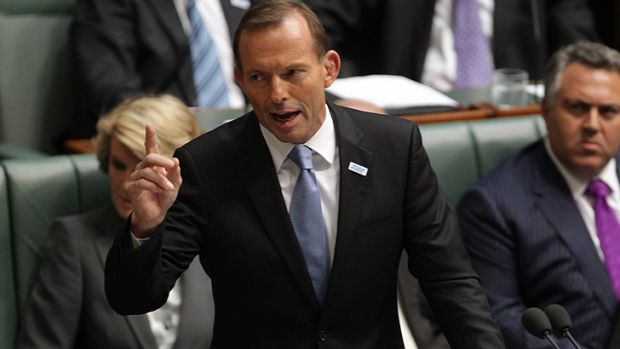 Tony Abbott fells short of a knock-out blow in Question Time.