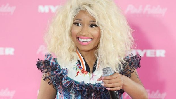 A suitably outlandish princess-meets-comic book ensemble for Nicki Minaj on Thursday.