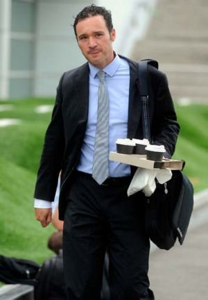 AFL operations manager Adrian Anderson arrives at AFL House.