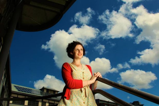 Young Playwright, Jessica Bellamy photographed at Walsh Bay.