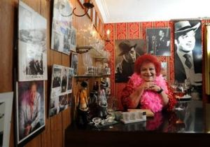 Publicist and theatrical personality Coralie Wood at her Curtin home in  Canberra.