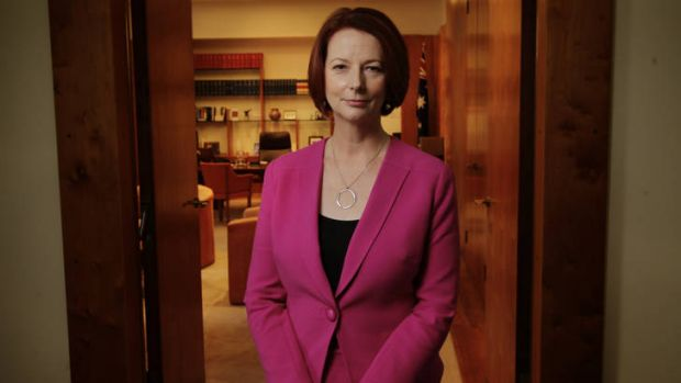 Prime Minister Julia Gillard poses for a portrait in her Parliament House on Thursday.