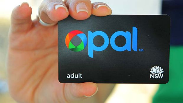 The Opal card ... an integrated public transport fare structure for Sydney expected in 2014.