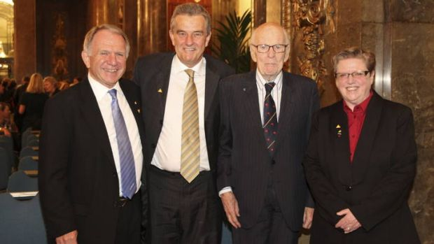The Australian High Commissioner to the UK His Excellency John Dauth, Dr David Headon, Lord Denman, second from right, ...
