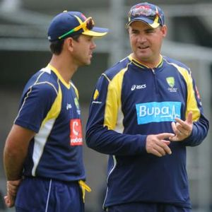 Men of the moment: Ricky Ponting (left) and coach Mickey Arthur.