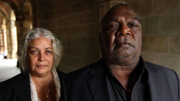 Marcia Langton and Yolgnu leader Galarrwuy Yunupingu from Gove in Arnham Land.