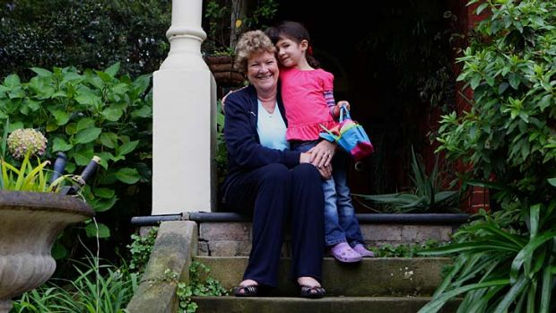 Abundant energy ... Jillian Skinner with her granddaughter Isabella at her Cremorne home.