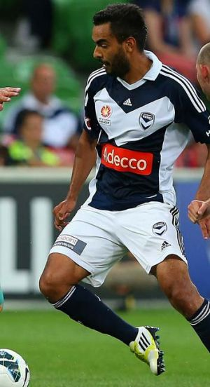Creative … Marcos Flores, here in action against Perth on Friday, is growing into his new role.