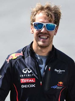 In the clear: Sebastian Vettel.