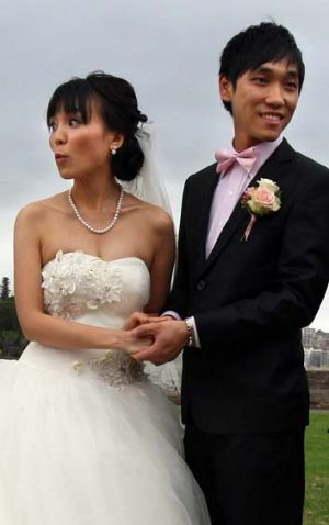 Schoolyard sweethearts ... Jonathon Xue and Alicia Zhang say they know each other well and nothing will change.