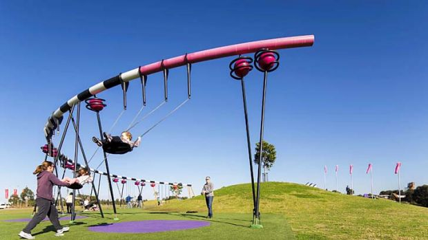 It don't mean a thing if it ain't got that swing … Blaxland Common at Sydney Olympic Park.