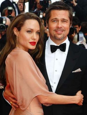 Hollywood's most powerful couple ... Angelina Jolie and Brad Pitt.