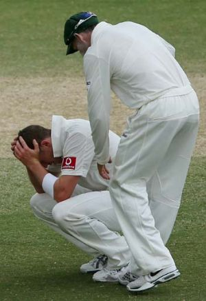 """If Peter Siddle was out there now bowling in the South African second innings, as courageous as he is, he would be ..."