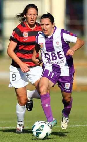 Back in action ... Perth Glory's Lisa De Vanna, pictured right.