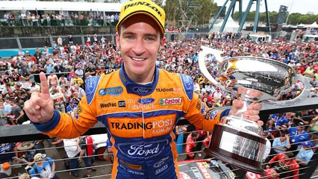 Nice finish: Will Davison after his win in the Sydney 500.