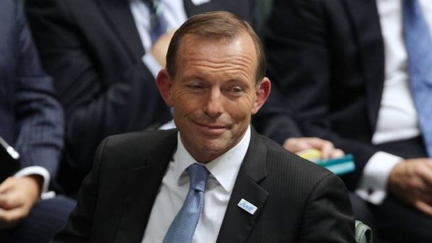 First stooge of the silly season ... Opposition Leader Tony Abbott, who suggests paying senior public servants bonuses ...