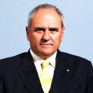 Third stooge ... The PM's special adviser, Ken Henry, who says one in three senior public servants should speak an Asian ...