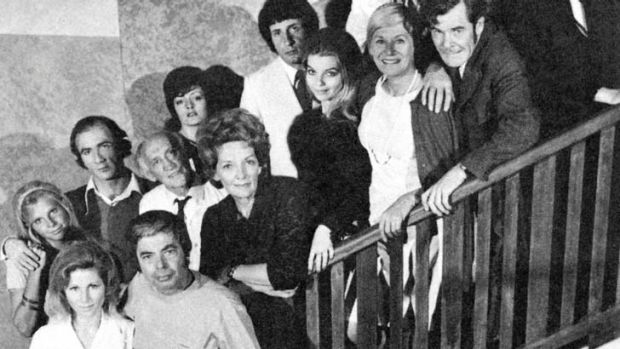 The cast of the TV show <i>Number 96</i>.