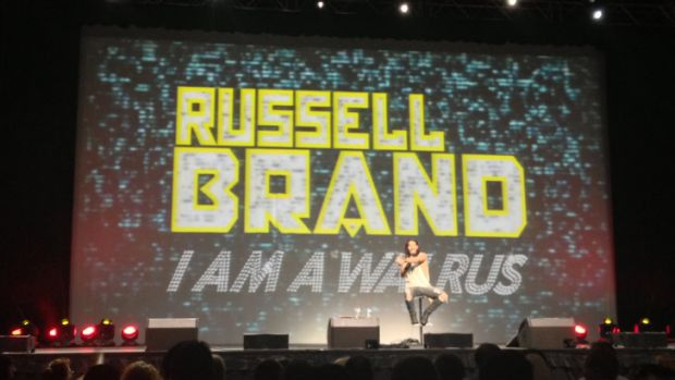 Nothing was off limits for Russell Brand, the first comedian to appear at Perth Arena.