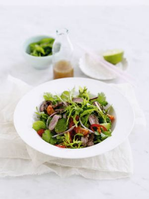 Cold comfort … Thai beef salad.