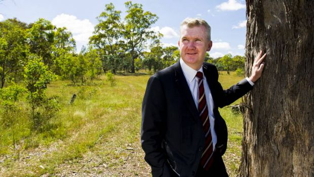 Tony Burke at Mulligans Flat Sanctuary yesterday.