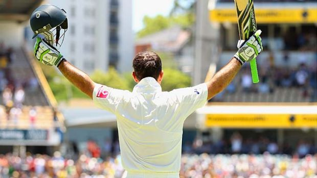 Ricky Ponting of Australia acknowledges the crowd after he was dimissed.