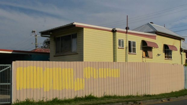 Twelve offensive messages were plastered over the property and have since been painted over.