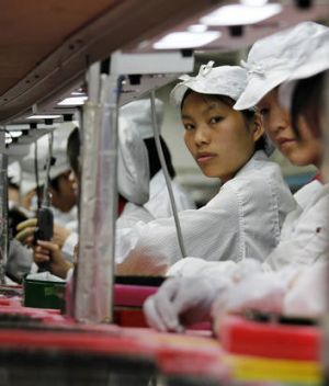 Chinese manufacturing is on the up.