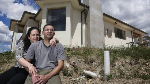 Isabelle Gonzalez and Yannick Arekion at their home in Bonner, which they had to complete as owner-builders.