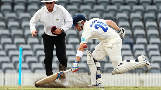 Brad Haddin during the Sheffield Shield match in Canberra.