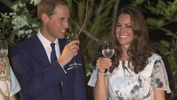 Happy news ... Prince William and Catherine Duchess Of Cambridge in Singapore in September.
