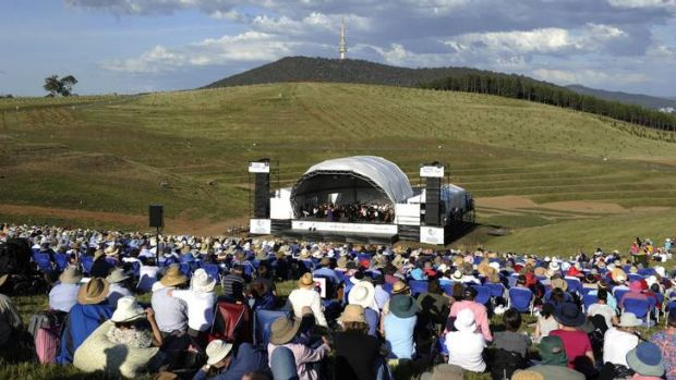 Thousands of Canberrans turned out for the Voices in the Forrest concert program at the National Arboretum.